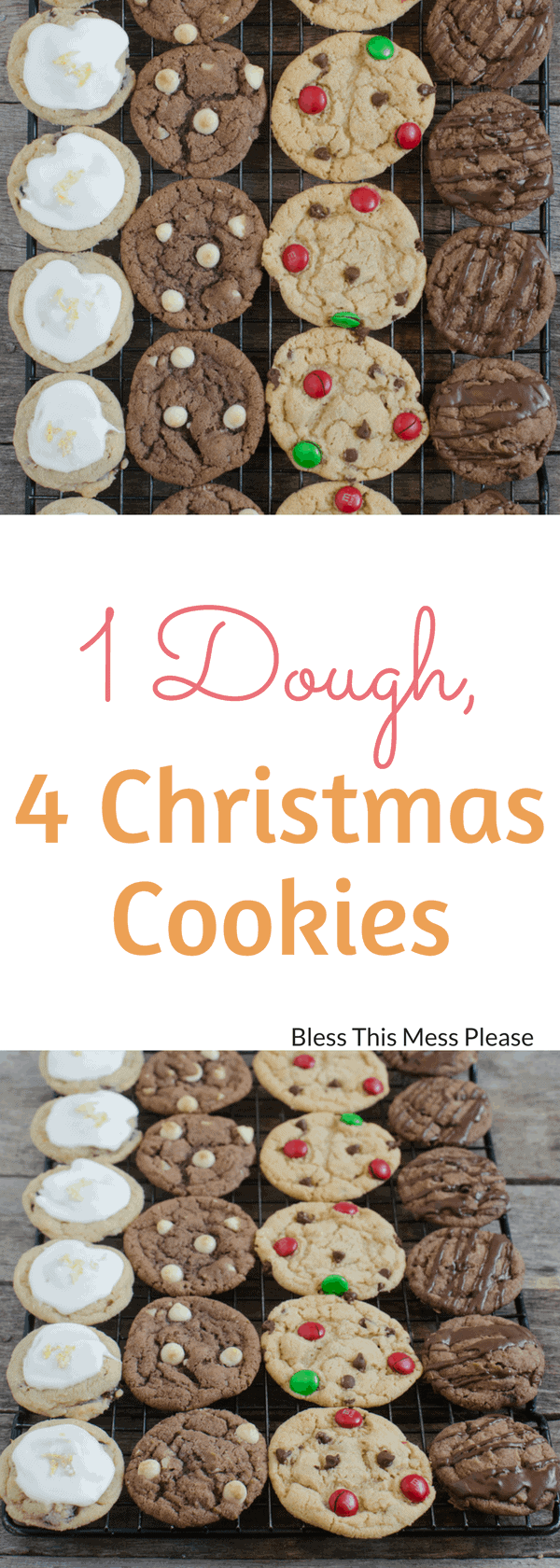 1 Dough, 4 Christmas Cookies