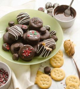 No-Bake Chocolate-Covered Fluffernutter Cookies are delicious treats that can be made in just a few minutes! An easy cookie recipe perfect for parties and holiday celebrations.