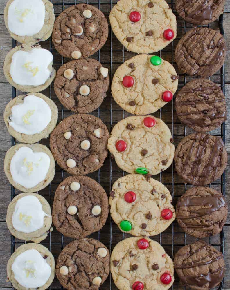 Save yourself some kitchen time this holiday season - this one dough recipe makes four different kinds of Christmas cookies!