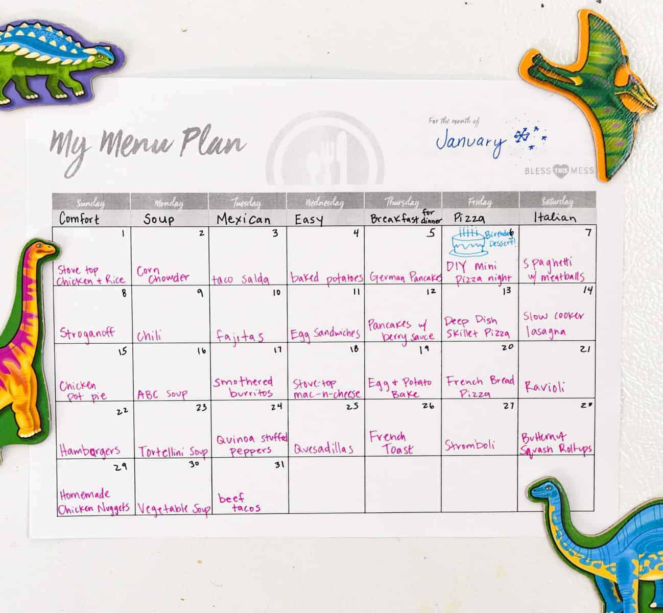Meal planning: Save time, save money, and take the stress out of dinner! This is a foolproof method for easy meal planning, including free printables!