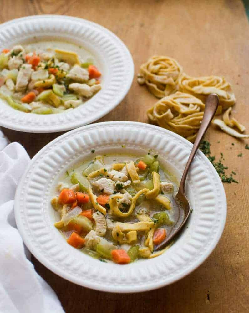 This Classic Chicken Noodle Soup comes together in just 30 minutes.