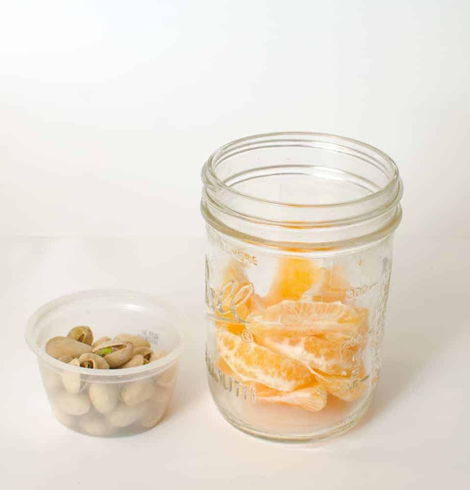 Healthy Snacks in Jars - Mandarin Orange + Pistachios
