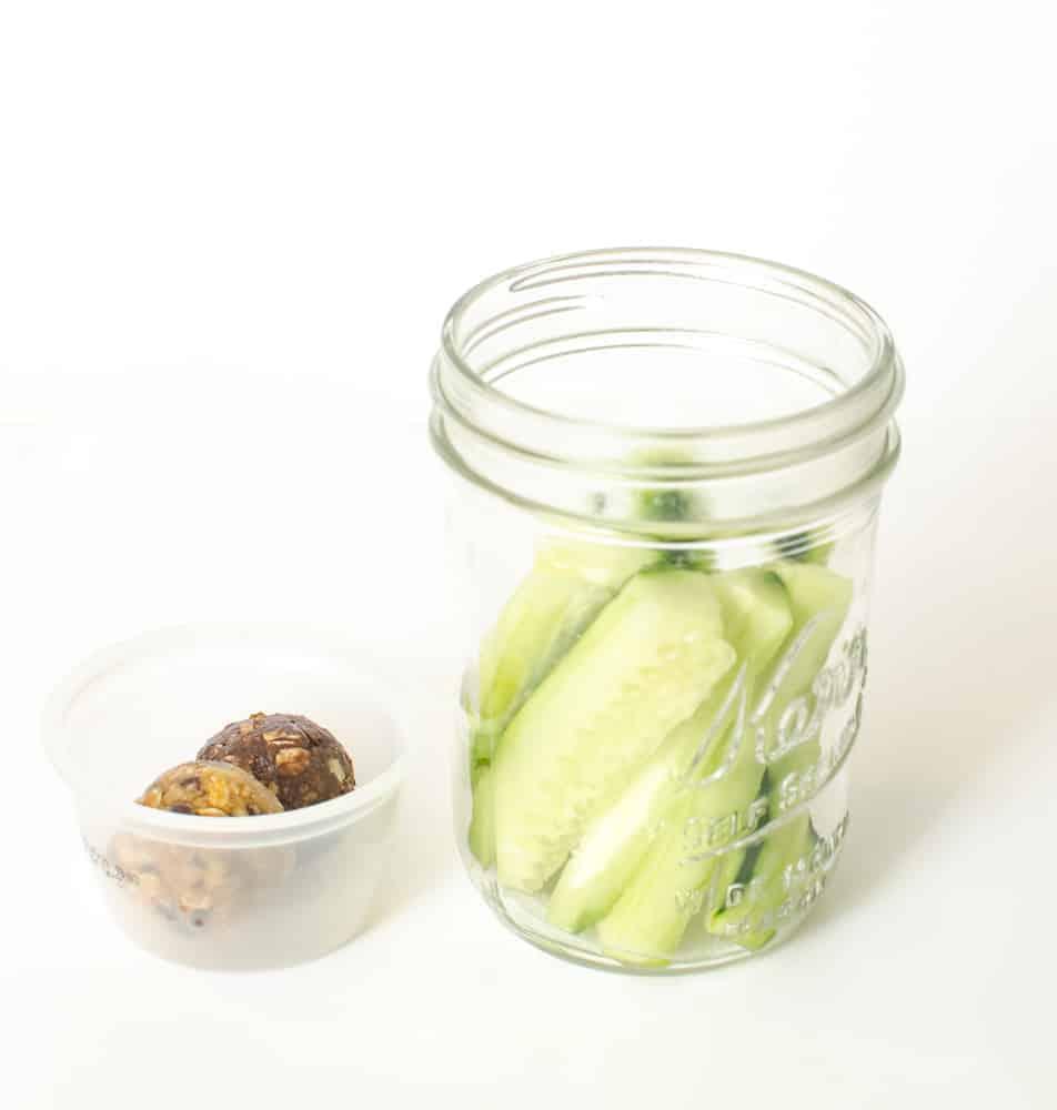 Healthy Snacks in Jars - Cucumber + Date Balls