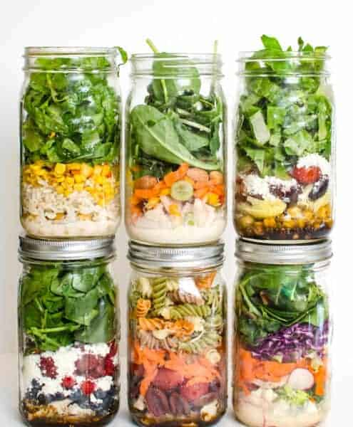Life gets busy, but that doesn't mean that daily salads are out of your grasp - prep a salad in a jar in advance, and you'll eat well all week long!