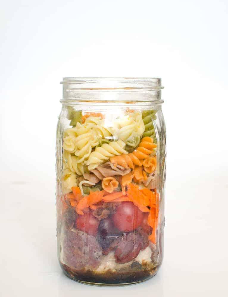 Greek Pasta Salad in a Jar