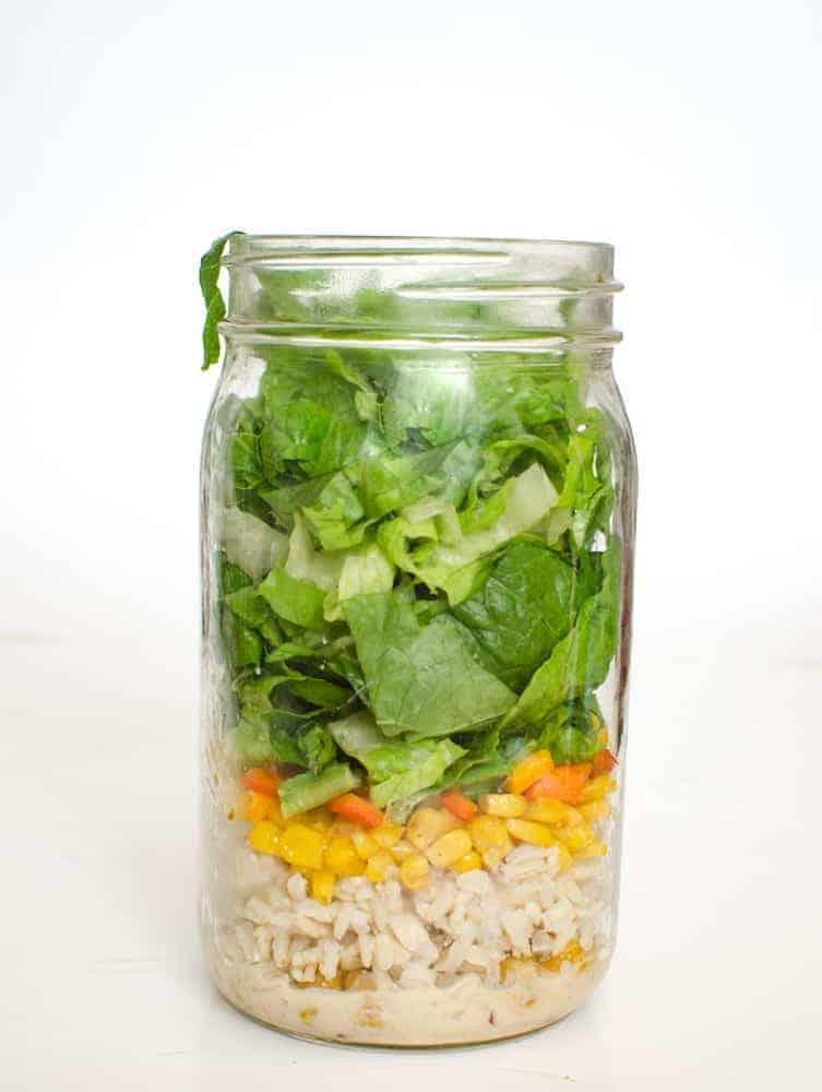 Chickpea Taco Salad Salad in a Jar