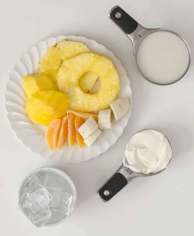 Tropical Simple Smoothie - Ingredients