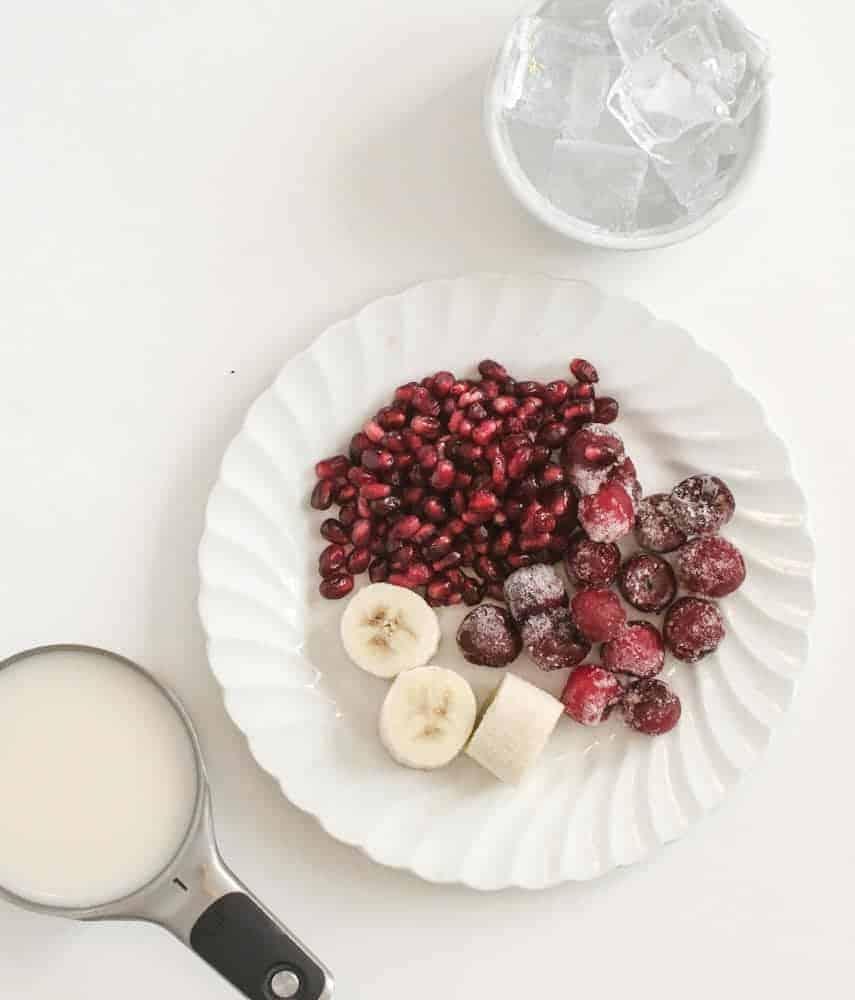 Cherry Pomegranate Detox Simple Smoothie - Ingredients