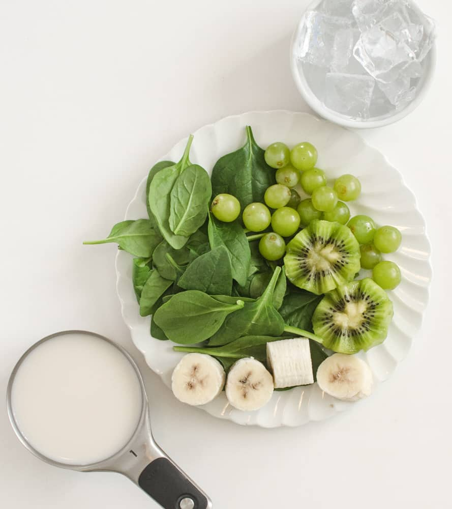 Green Goddess Simple Smoothie - Ingredients