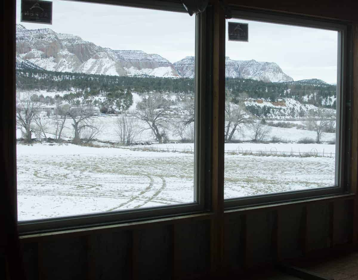 Energy Efficient Windows - Our big beautiful top-notch Alpen windows in the living room.
