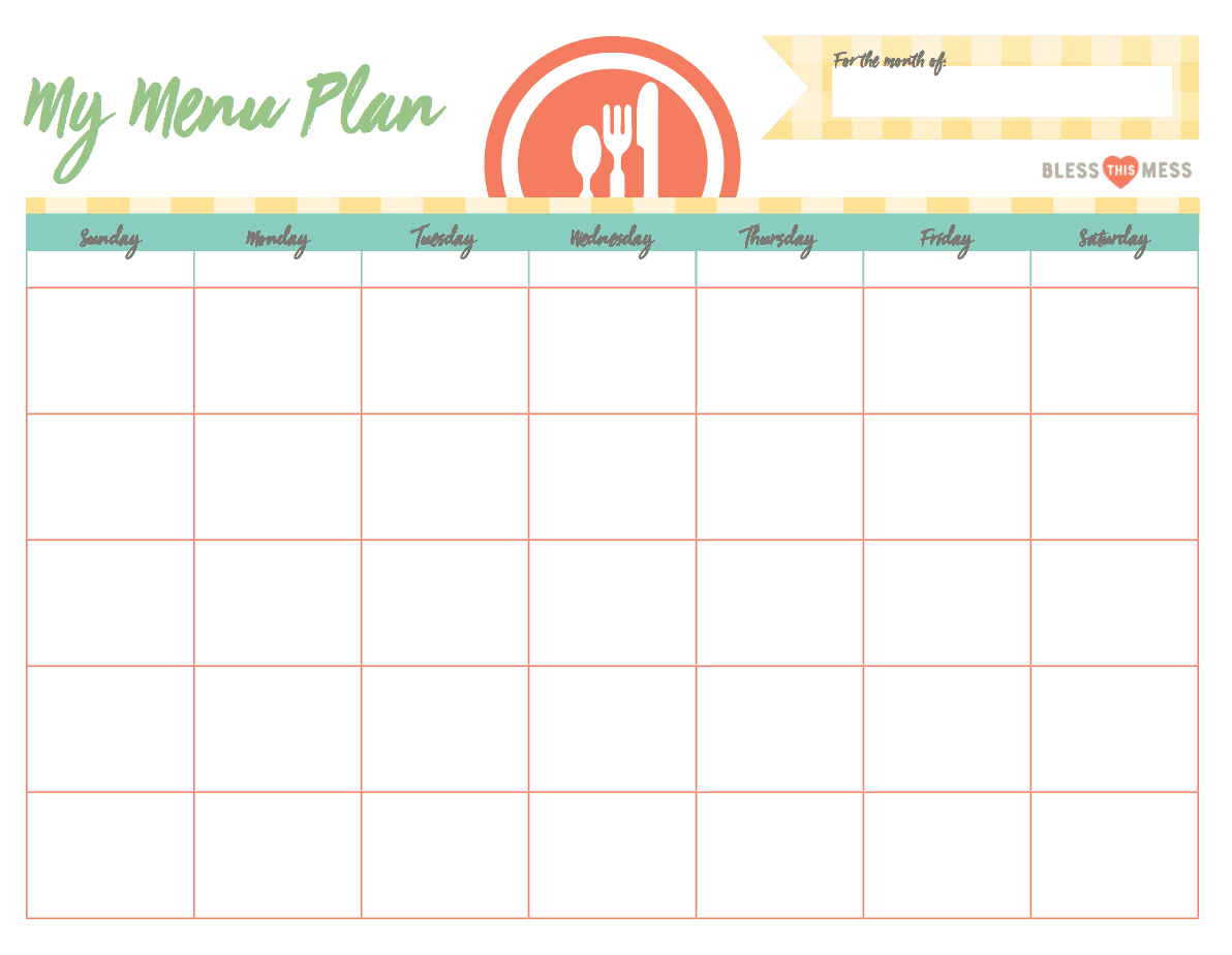 Monthly Meal Plan Calendar : Busy moms basic meal planning bless this mess please