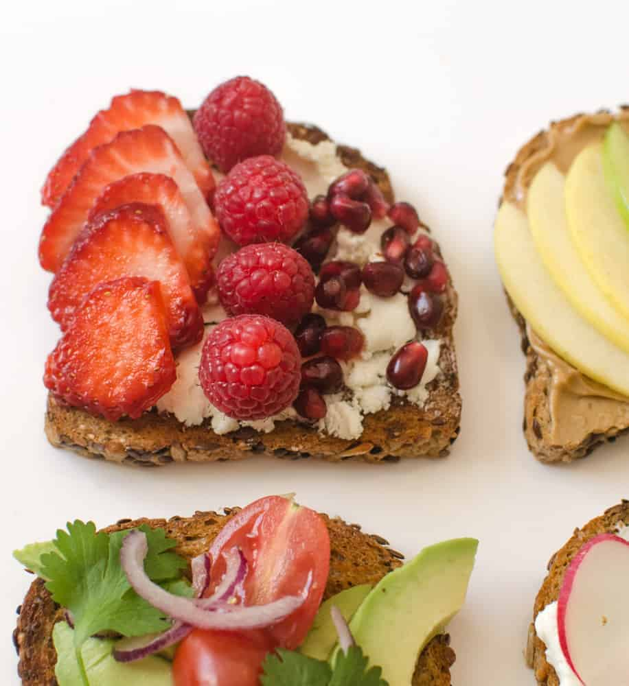 Healthy Toasts - Very Berry Red Toast