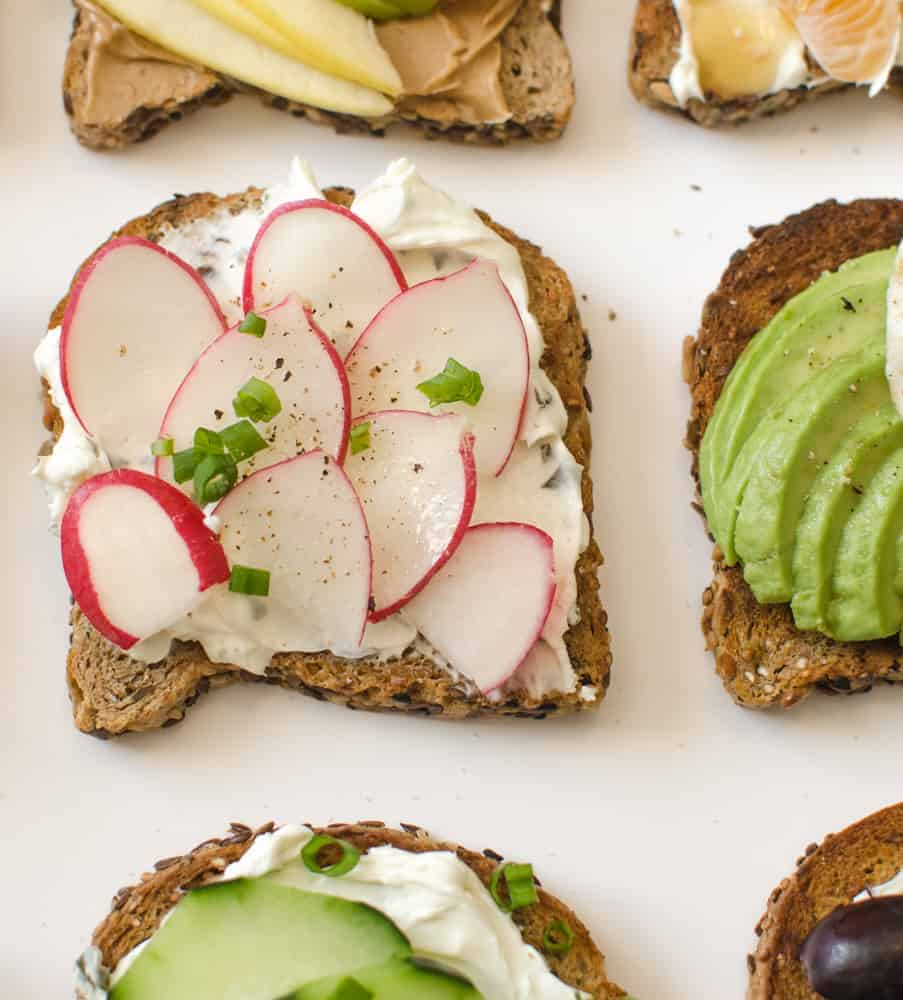 Healthy Toasts - Garden Radish Toast