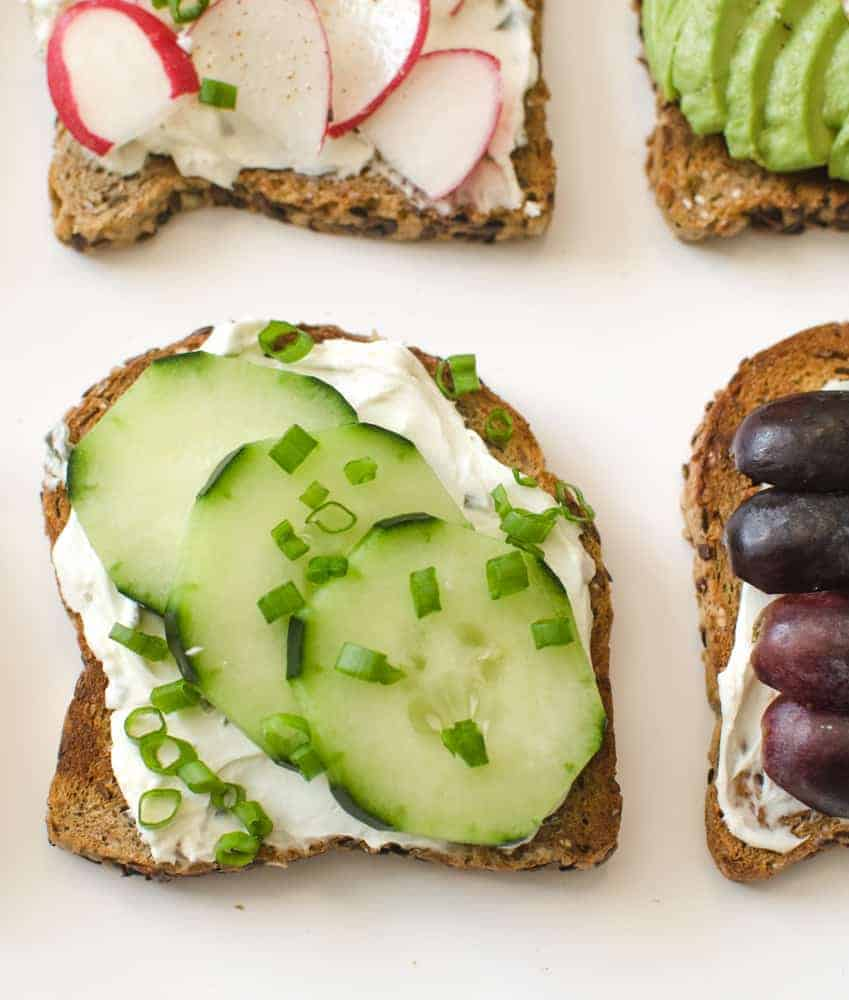 Healthy Toasts - Cucumber and Herb Toast