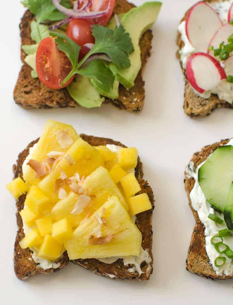 Healthy Toasts - Tropical Toast