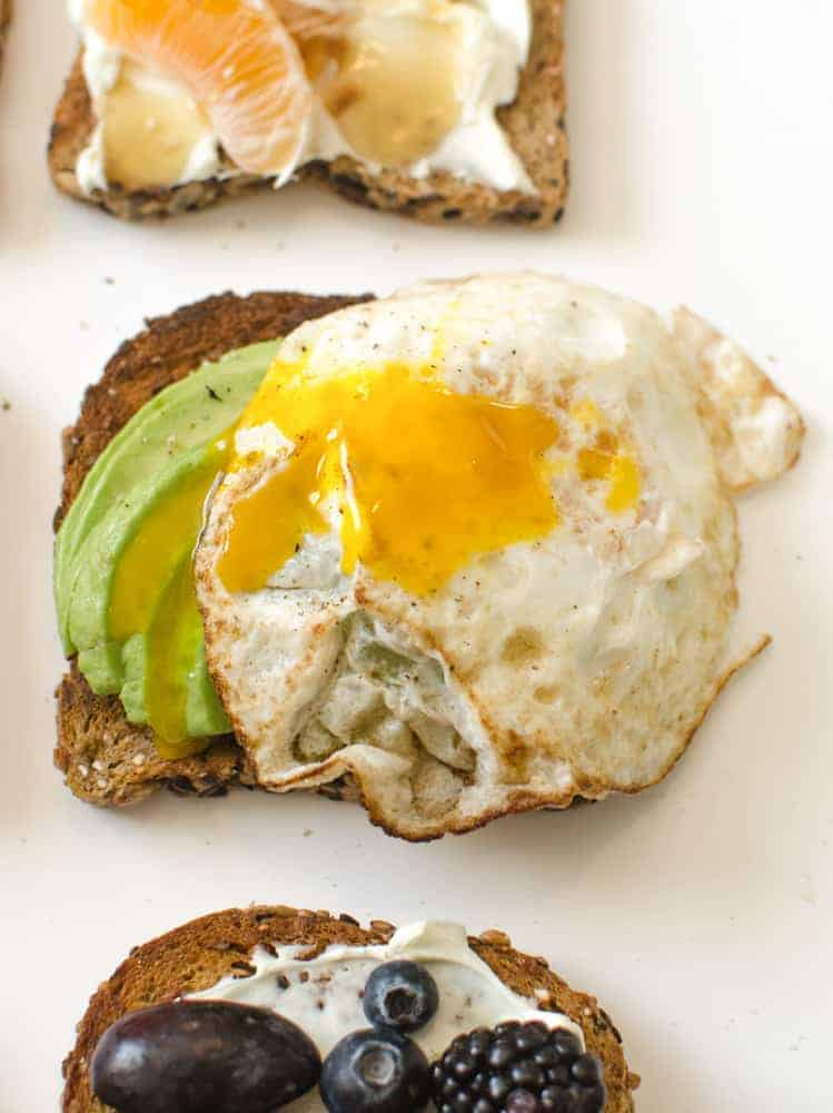 Healthy Toasts - Classic Avocado and Egg Toast