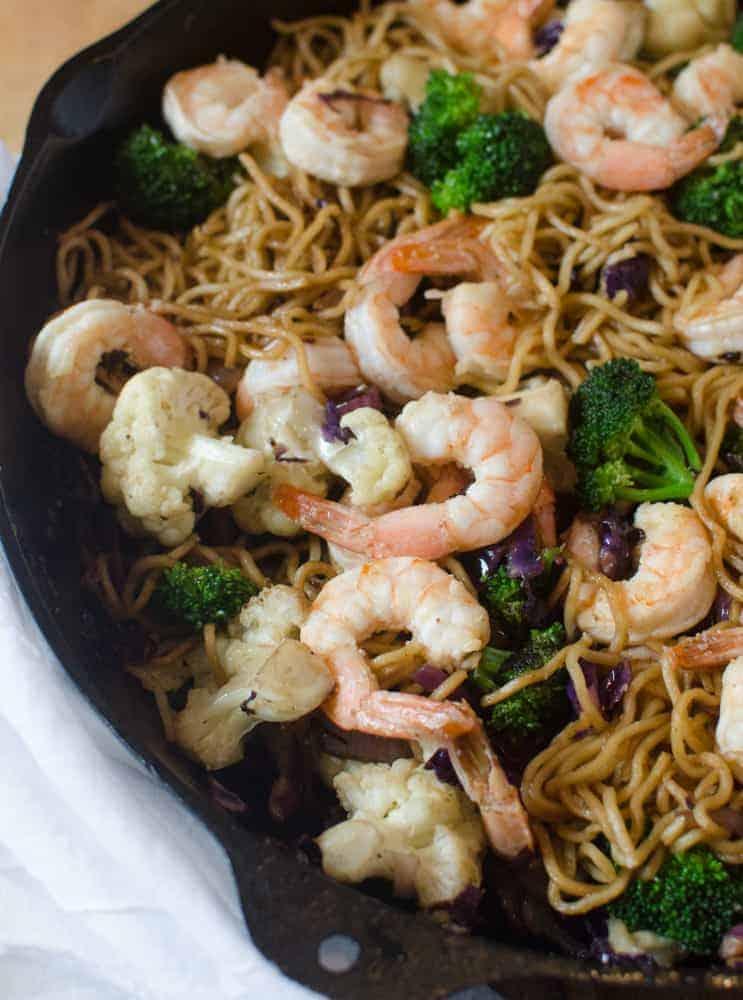 Shrimp Noodle Stir Fry