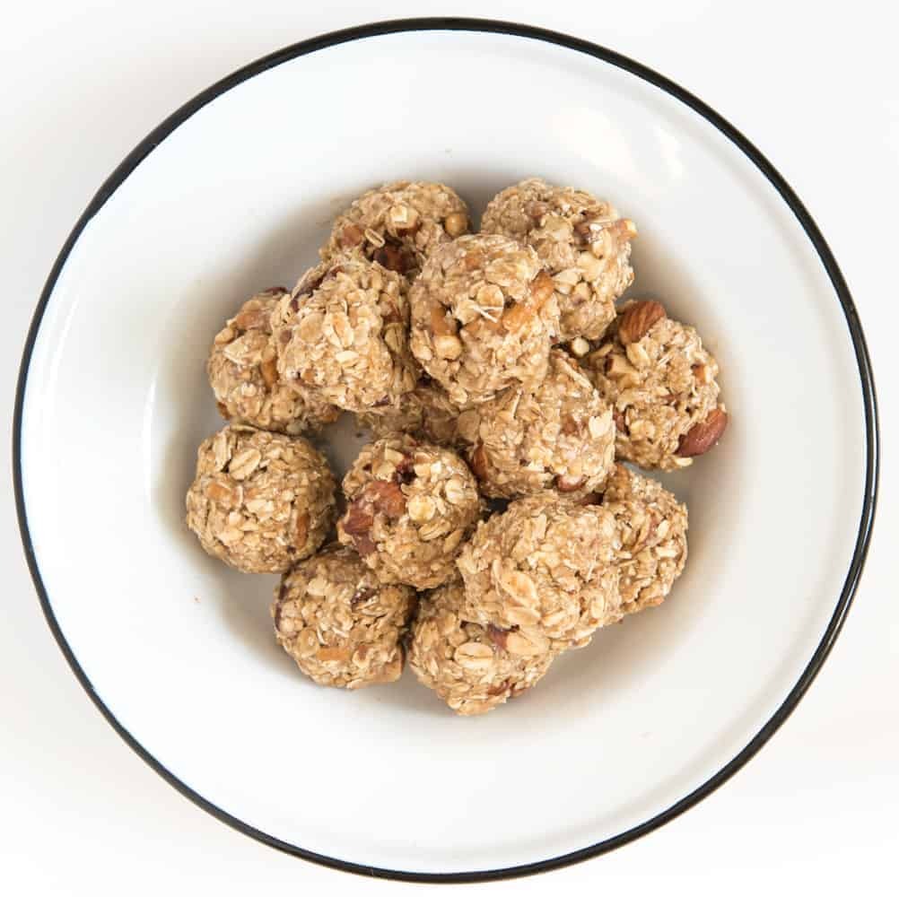 Sweet and Salty No-Bake Oatmeal Energy Balls