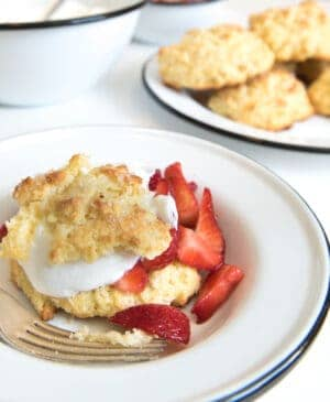 2 amazing strawberry shortcake recipes. One with old fashioned biscuits, the other with fluffy, cake-like biscuits! Try both desserts & find your favorite.