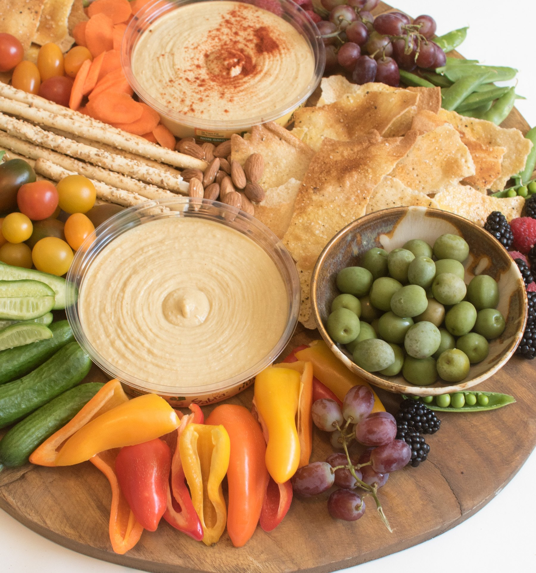 Hummus platter for a party