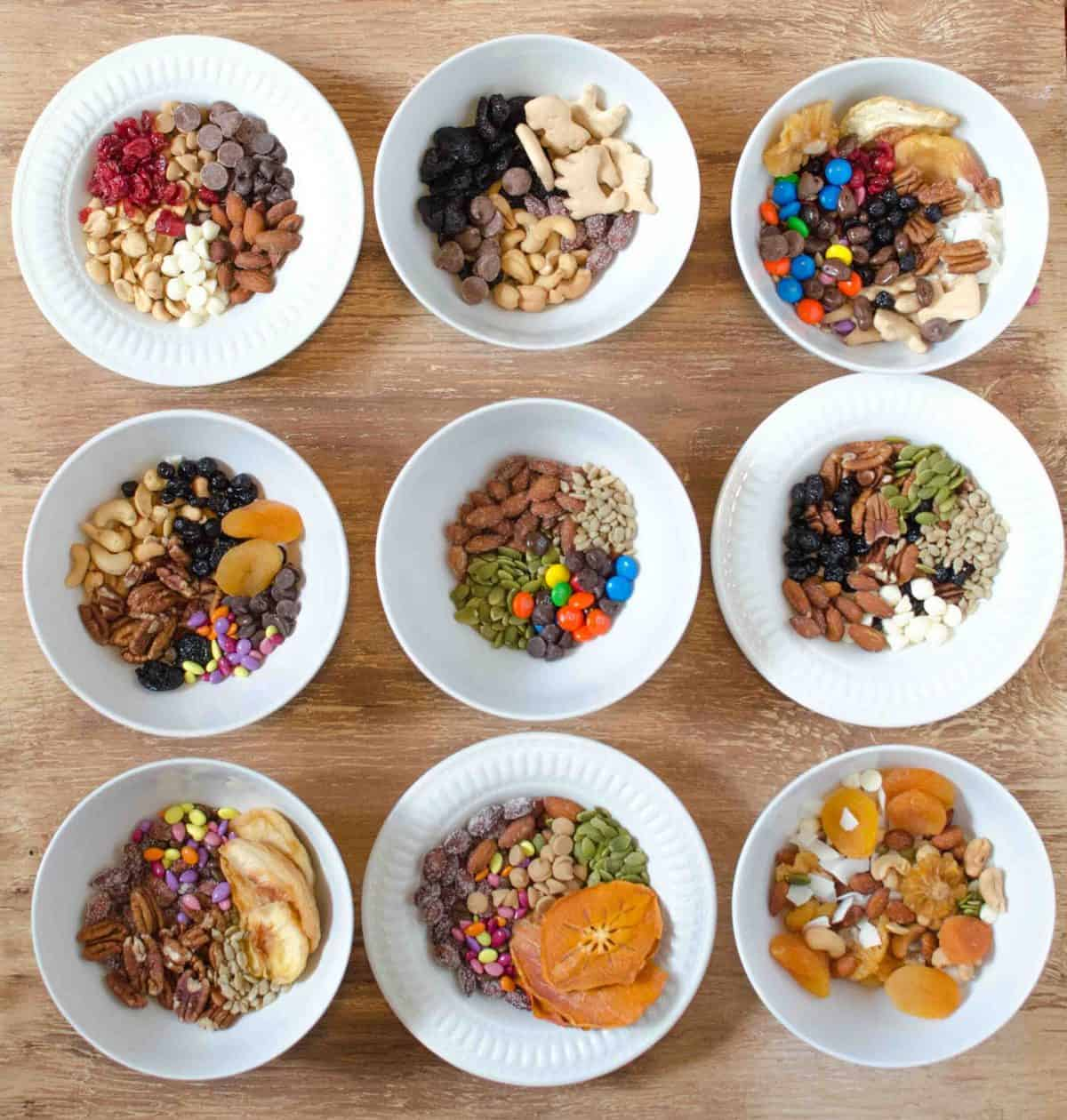 Make a DIY Trail Mix station for your kids to create their own trail mix combinations to snack on all summer long.