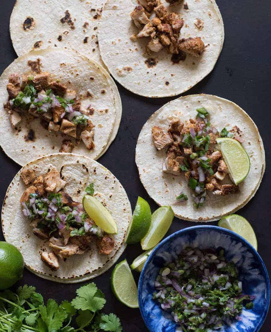 The BEST Chicken Tacos Ever | Easy Chicken Thighs Dinner Idea