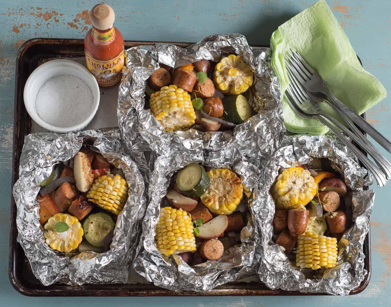 Quick and easy Sausage and Vegetable Foil Packets