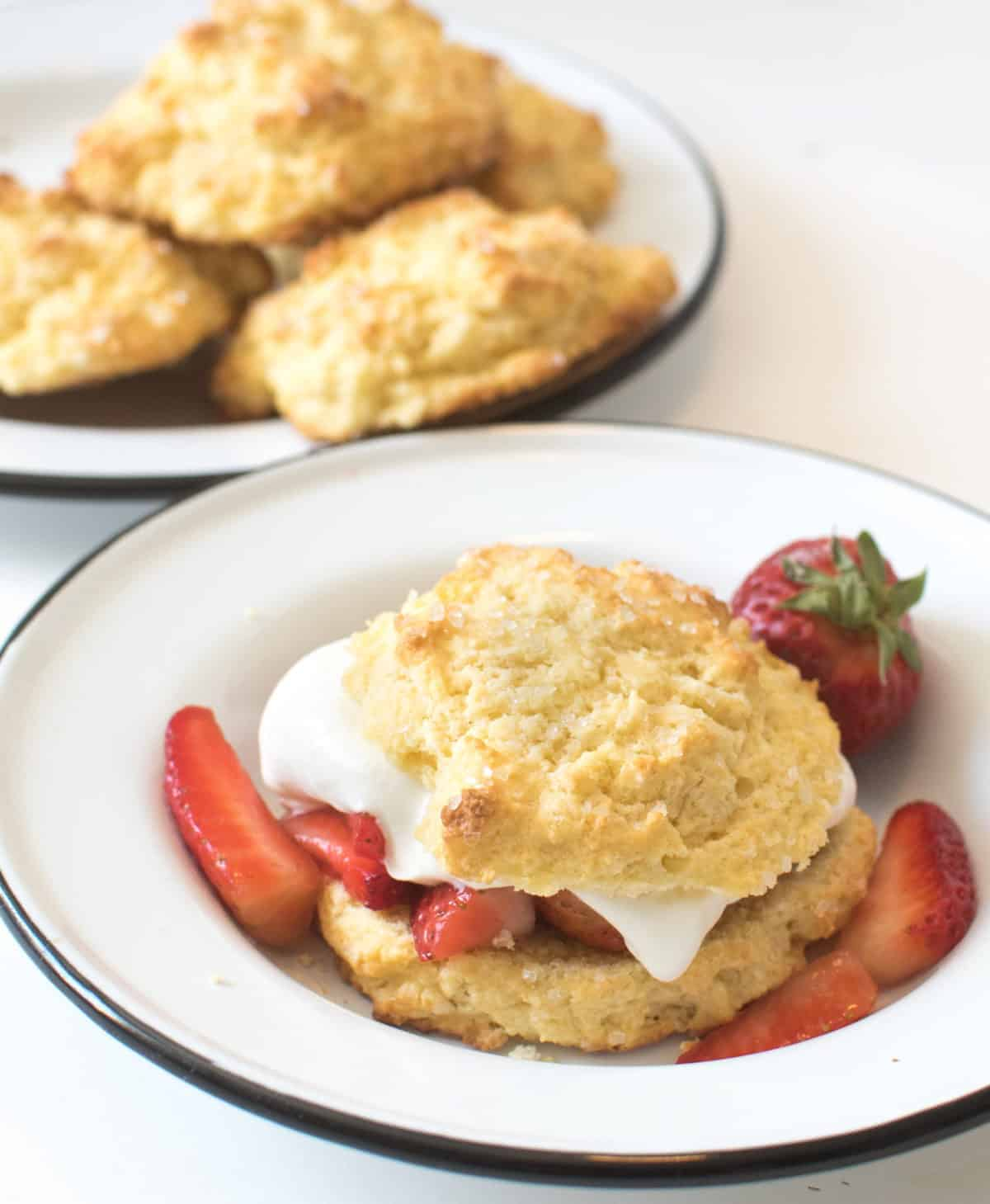 Strawberry shortcake two ways - one recipe for a sweet biscuit-like shortcake and one recipe for a cake-like strawberry shortcake, because I aim to please.