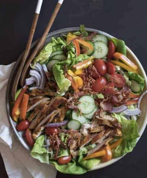 Image of chicken bacon ranch salad