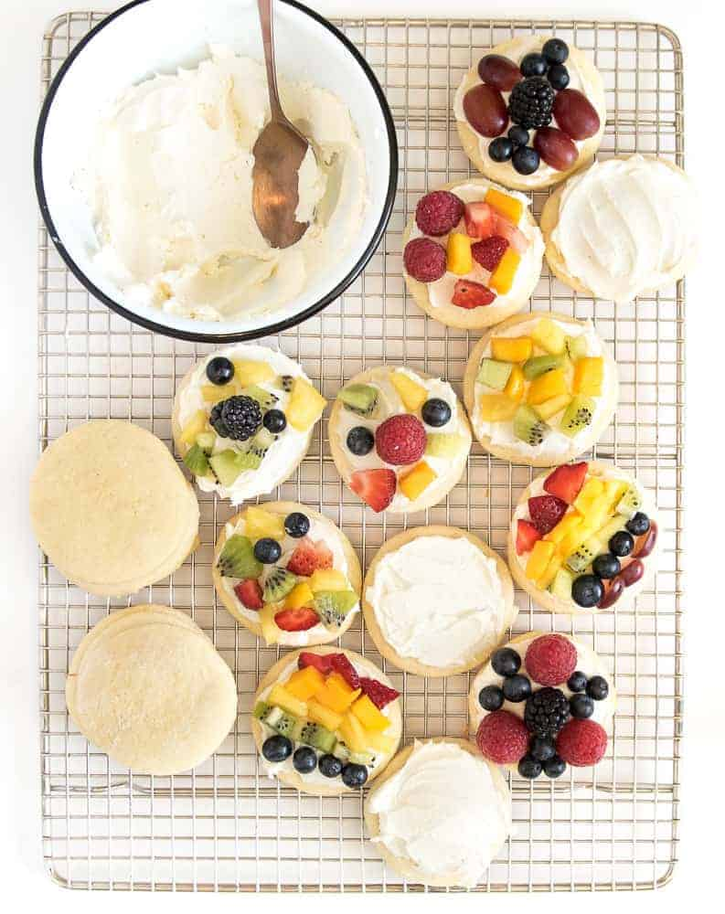 fruit pizza cookies image