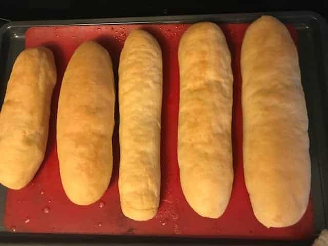 five loafs of cooked bread