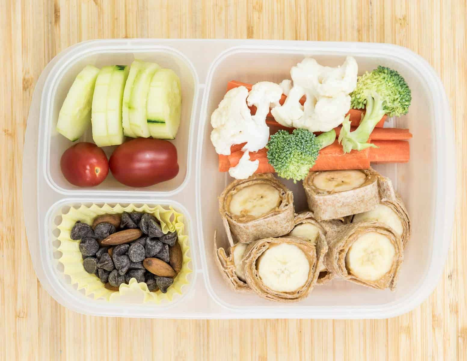 Lunch Box Ideas - Banana Sushi Lunch Box