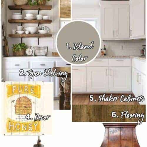 My Farmhouse Inspiration - Kitchen, Dining Room, and Living Room