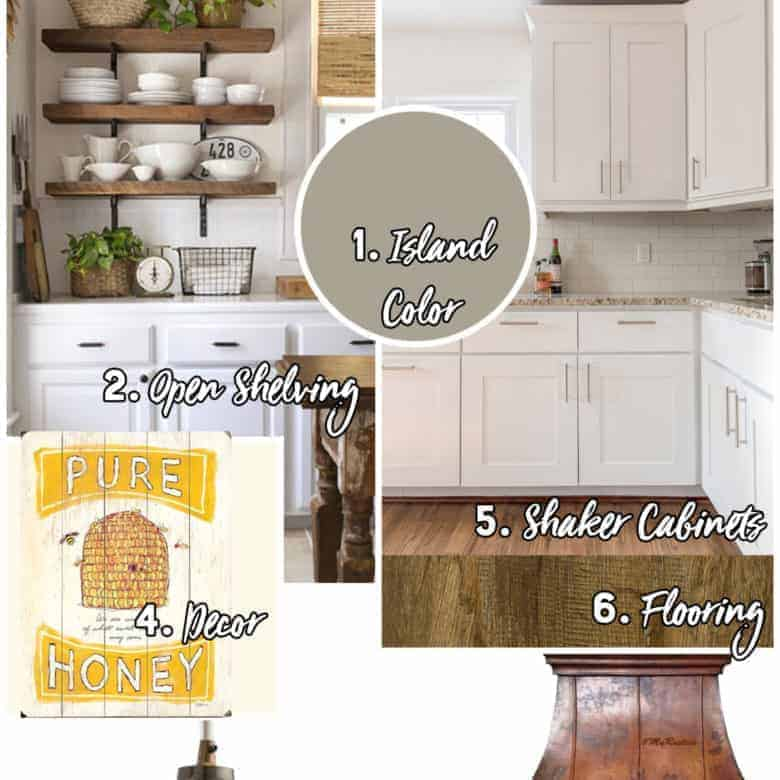 My Farmhouse Inspiration – Kitchen, Dining Room, and Living Room