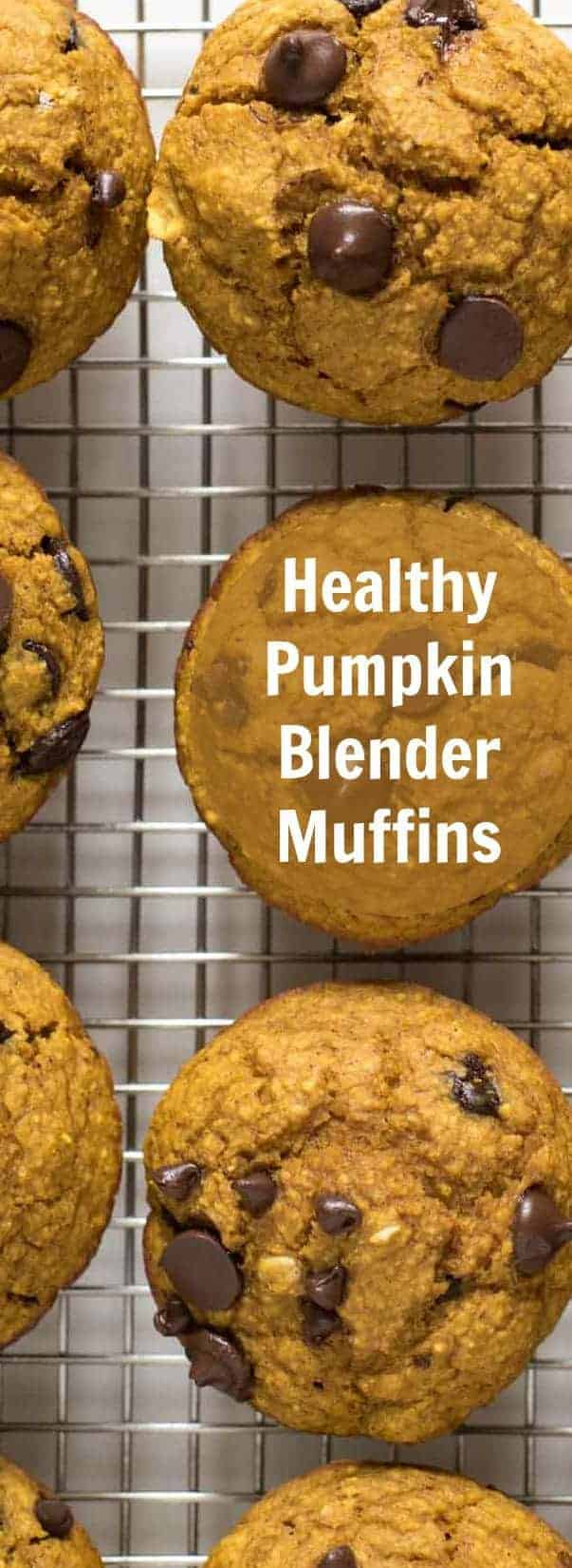 Healthy Pumpkin Blender Muffins are made by placing wholesome ingredients in a blender and processing until smooth. Simply blend, bake, and enjoy!