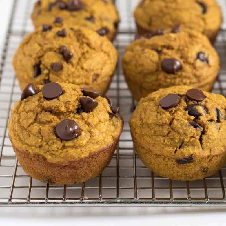 Healthy Pumpkin Blender Muffins