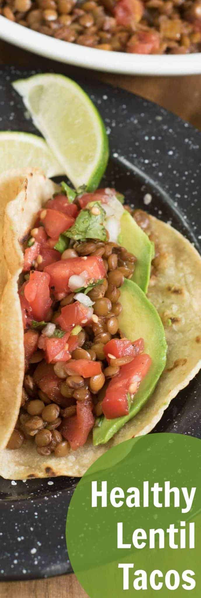 Quick, easy, and healthy lentil tacos are one of our favorite plant-based dinners the whole family loves.