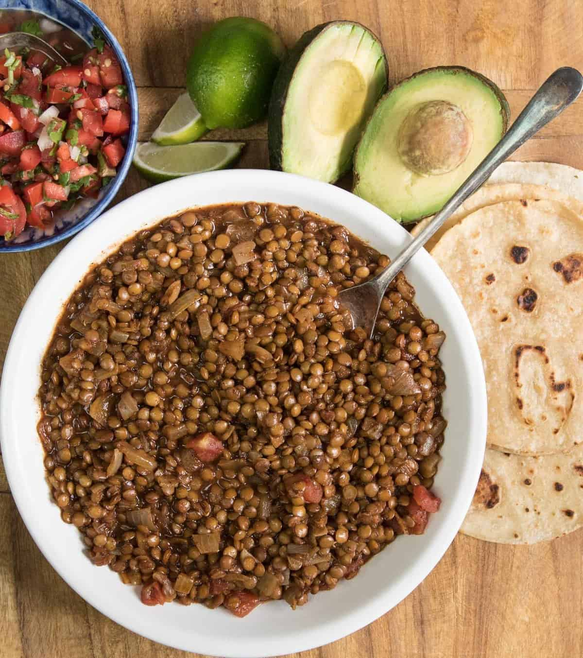 Quick, easy, and healthy lentil tacos are one of our favorite plant-based dinner ideas the whole family loves.
