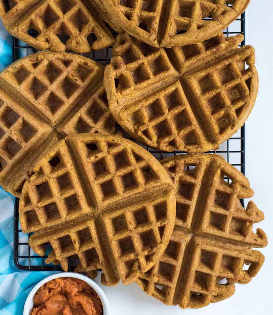 Image of Whole Wheat Pumpkin Waffles