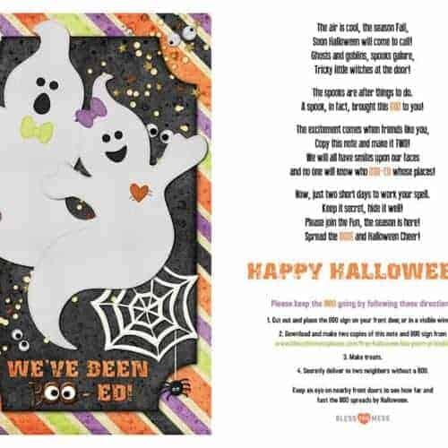 Free Halloween Boo Poem (Printable)