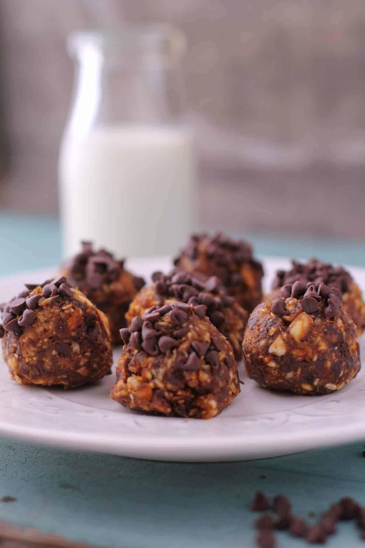 Chocolate Chip Pumpkin Date Balls