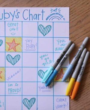 Image of behavior chart