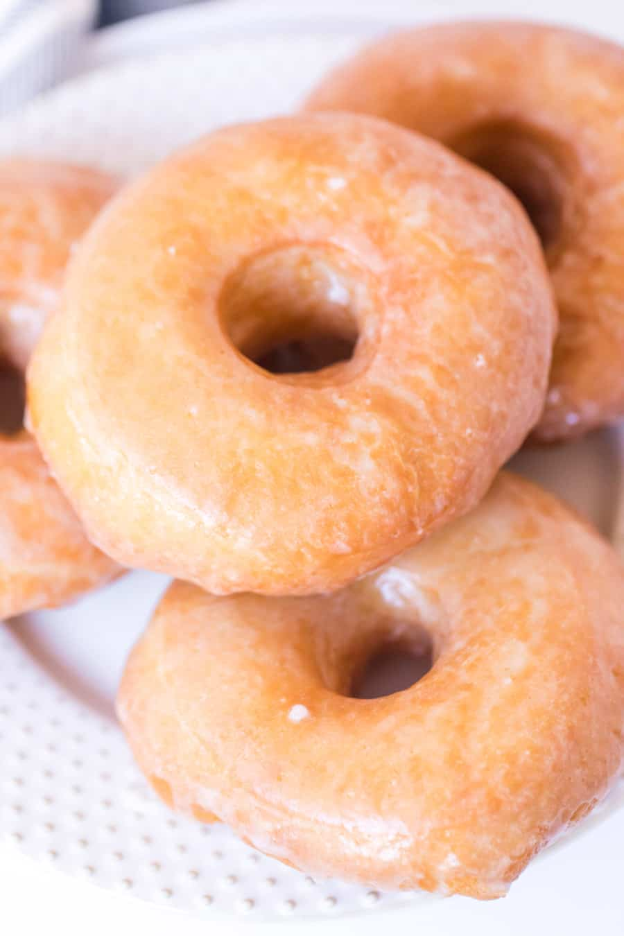 Photo of old fashioned glazed donuts
