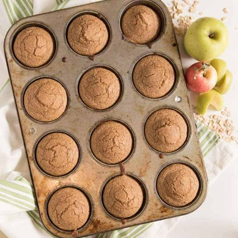 Healthy Apple Cinnamon Muffins (made in the blender!)