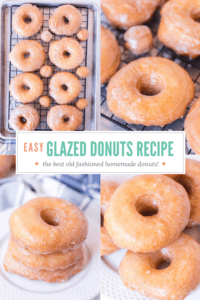 Pinterest image for old fashioned glazed donuts