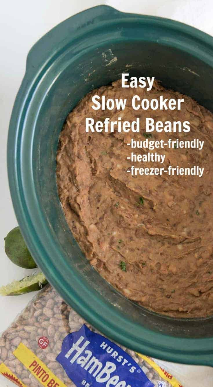 Slow cooker refried beans are the simplest way to make rich and hearty refried beans at home - world's above their canned counterparts.