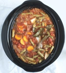 Picture of Slow Cooker Vegetable Beef Soup