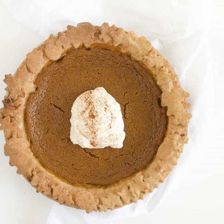 Healthy Pumpkin Pie Recipe (whole grain crust and naturally sweetened)