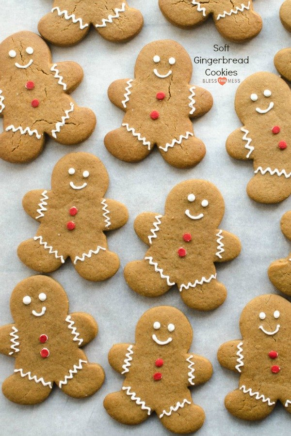 These soft gingerbread cookies are sweet, soft, and lightly spiced. This is the perfect cut-out cookie recipe, and will quickly become a family favorite for the holidays!