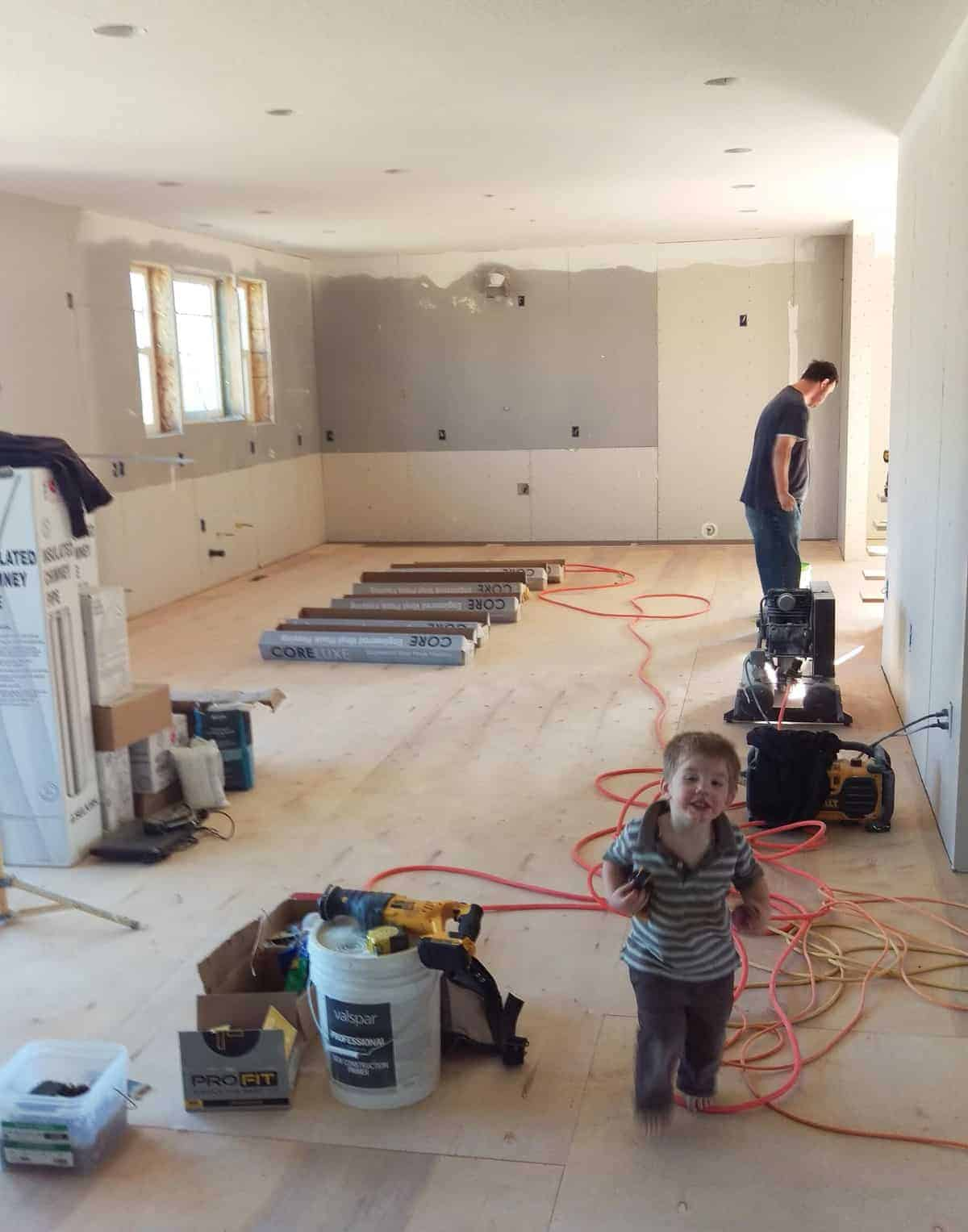 Plumbing and wiring were just not that exciting without big visual changes; getting flooring and cabinets though have changed the whole house. & House Building Updated December 2017: Floors Cabinets and More ...